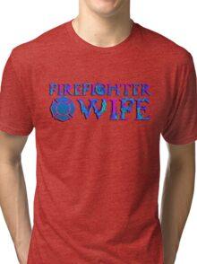 Firefighter Wife Maltese Cross Tri-blend T-Shirt