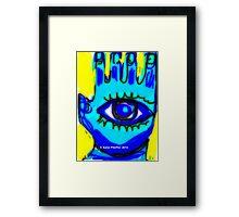Blue Hamsa  December Framed Print