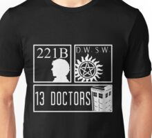Superwholock fandom Unisex T-Shirt