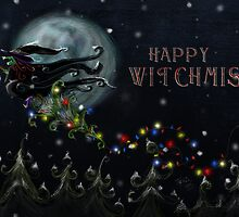 Happy Witchmiss Card design by Topher Adam by Hugs & Bitchslaps SX Couture