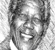 Nelson Mandela by Rafael Salazar