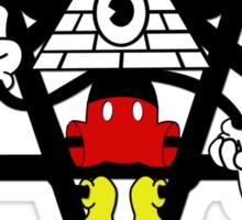 Illuminati Mickey Sticker