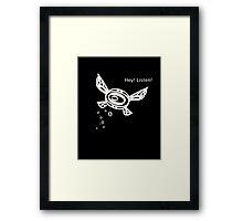 """Zelda """"Listen!"""" Fairy Framed Print"""