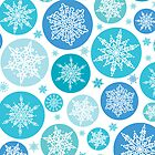 Round holiday snowflakes pattern by oksancia