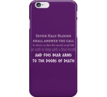 Prophecy of the Seven - White iPhone Case/Skin