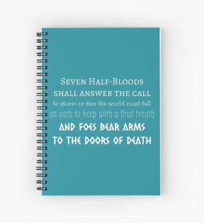 Prophecy of the Seven - White Spiral Notebook