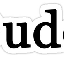 Dude. Sticker