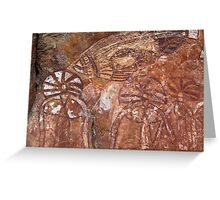 Kakadu Rock Art #4 Greeting Card
