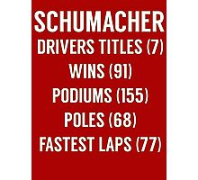 Michael Schumacher F1 stats/records  Photographic Print