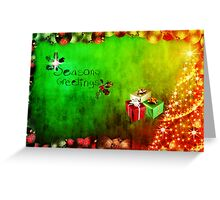 Season's Greetings - holiday card Greeting Card