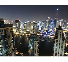 Dubai illuminated Photographic Print