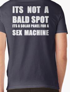 ITS NOT A BALD SPOT ITS A SOLAR PANEL FOR A SEX MACHINE WHITE Mens V-Neck T-Shirt
