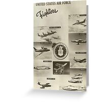 Fighters of the USAF Greeting Card