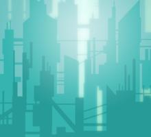 The first light of metropolis Sticker