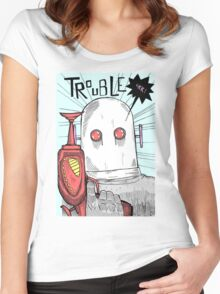 Robotic Tribulations Women's Fitted Scoop T-Shirt