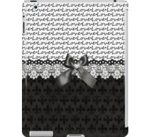 Elegant Black Love iPad Case/Skin