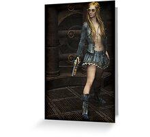 Steampunk Vixen Greeting Card