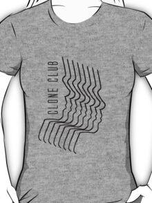 cloned lines black T-Shirt