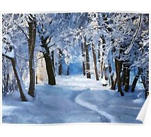 Sunny snowy day Poster