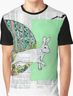 Collage Rabbit Fairy Tale Graphic T-Shirt