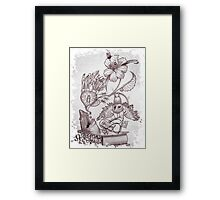 IMA SHARK (Pencil)!! Framed Print