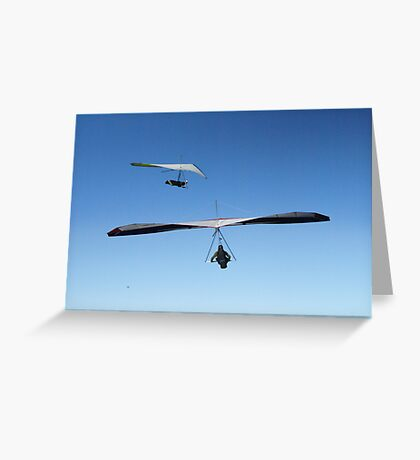 Hang Gliders, Newcastle Beach, Australia Greeting Card