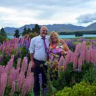 Doug and Robyn in the Lupins by Doug Cliff