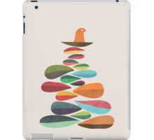 Bird nesting on top of pebbles hill iPad Case/Skin