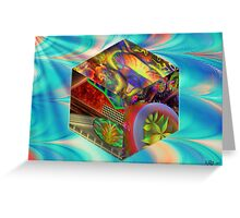 Flames Like Cubes Greeting Card