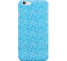 Blue Modern Moroccan  iPhone Case/Skin