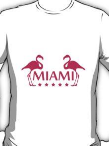 Miami Flamingo Stars Logo T-Shirt