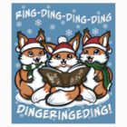 """What does the Fox Sing""  (sticker) by Ameda Nowlin"