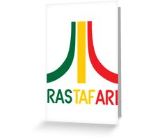 Rasta-Atari Greeting Card
