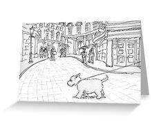 Bath likes dogs Greeting Card