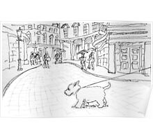 Bath likes dogs Poster