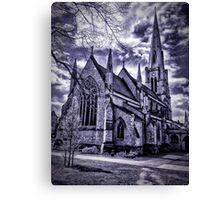 Dramatic gothic style church Canvas Print