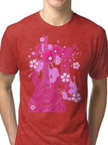 GUITAR-POP TUNES Tri-blend T-Shirt