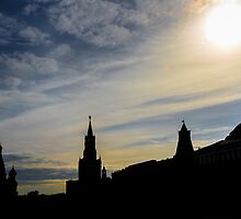 Red Square Silhouette, Moscow by raredevice