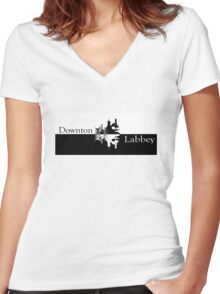 Downton Labbey Women's Fitted V-Neck T-Shirt