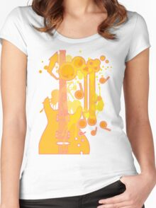 GUITAR-POP TUNES Women's Fitted Scoop T-Shirt