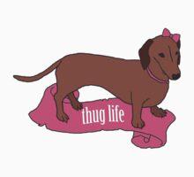 Thug Life - Vaguely Menacing Puppies with Bows #2 Kids Clothes