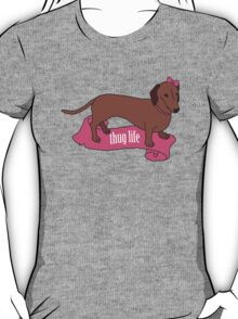 Thug Life - Vaguely Menacing Puppies with Bows #2 T-Shirt