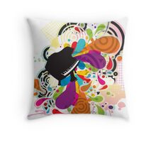 Flabby_Expression Throw Pillow