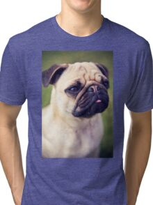 Cute Pug *PROCEEDS TO CHARITY* Tri-blend T-Shirt