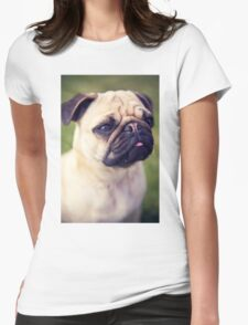 Cute Pug *PROCEEDS TO CHARITY* Womens Fitted T-Shirt