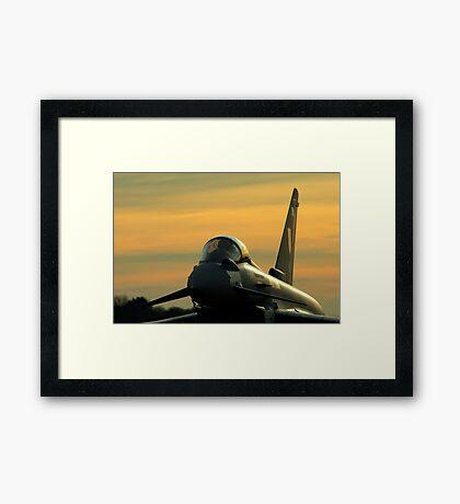 Typhoon Sunset Framed Print