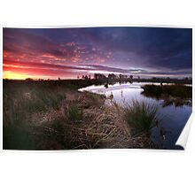 Dramatic autumn sunrise Poster