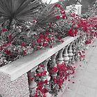 Pink flower arrangement  by KirstyJSwinger