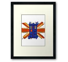 Dr Who - The Tardis - Vintage Jack Framed Print