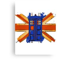 Dr Who - The Tardis - Vintage Jack Canvas Print